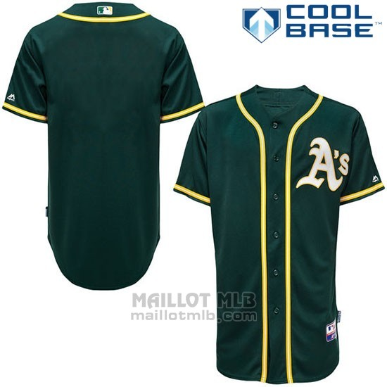 Maillot Baseball Homme Oakland Athletics Majestic Vert Cool Base Big Tall